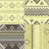Hand drawn geometric patterns Royalty Free Stock Photos