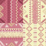 Hand drawn geometric patterns Royalty Free Stock Photography
