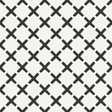 Hand drawn geometric seamless ink pattern with brush strokes. Wrapping paper.. Abstract vector background. Brush strokes. Texture with crosses or pluses. Dry Royalty Free Stock Images