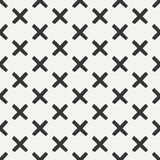 Hand drawn geometric seamless ink pattern with brush strokes.. Wrapping paper. Abstract vector background. Brush strokes. Texture with crosses or pluses. Dry Royalty Free Stock Image