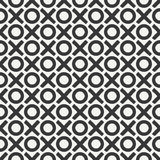 Hand drawn geometric seamless ink pattern with brush strokes. Wrapping paper. Abstract vector background. Brush strokes. Texture with crosses, tac-toe. Dry Stock Photography