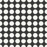 Hand drawn geometric seamless ink polka dot pattern. Wrapping paper. Abstract vector background. Round brush strokes. Casual polka dot texture. Doodle. Dry Royalty Free Stock Image
