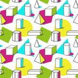 Hand drawn geometric seamless pattern for backgrounds royalty free illustration