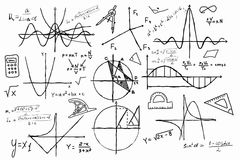 Hand drawn geometry set Stock Images