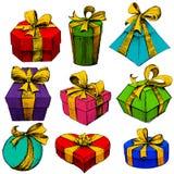 Hand Drawn Gift Box Royalty Free Stock Photography