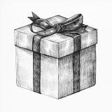 Hand drawn gift box illustration Stock Images