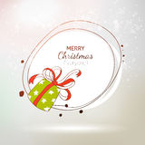 Hand drawn Gift Xmas label card Royalty Free Stock Images