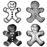 Hand drawn gingerbread man Royalty Free Stock Photography