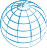 Hand Drawn Globe isolated Stock Photography