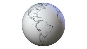 Hand drawn globe vector illustration