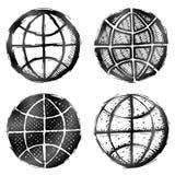 Hand drawn globe symbol Stock Photo