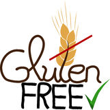 Hand drawn Gluten free Stock Images