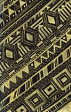 Hand drawn gold and black bohemian pattern royalty free illustration