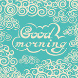 Hand drawn Good Morning lettering rough typography Royalty Free Stock Images