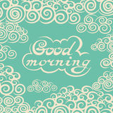 Hand drawn Good Morning lettering rough typography Royalty Free Stock Photo