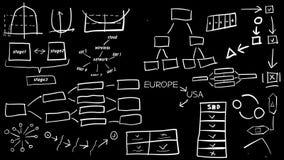 Hand-drawn grafieken en grafiek stock illustratie