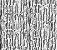 Hand drawn graphic brush strokes textured zig zag pattern.Seamless vector abstract painted pattern. stock illustration