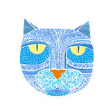 Hand drawn graphic vector of a cat. Unique art illustration for Royalty Free Stock Photos