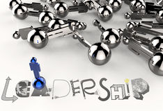 Hand drawn graphic word LEADERSHIP Stock Photos