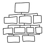 Hand drawn a graphics symbols geometric shapes graph to input in Stock Images