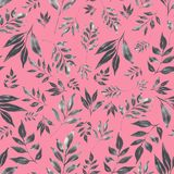 Graphit watercolor floral pattern royalty free illustration