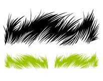 Hand drawn grass
