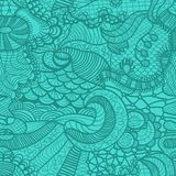 Hand drawn grass seamless pattern Stock Photography