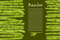 Hand-drawn green bamboo bacground with space for text Stock Image