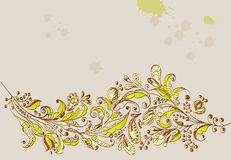 Hand Drawn green floral background Royalty Free Stock Image