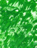 Hand drawn green texture with brushstrokes and stains of gouache or acrylic paint. Green fresh grass or forest leaf. Hand painted green texture. Smears and vector illustration