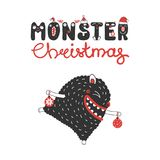 Cute and funny Christmas monster Royalty Free Stock Photography