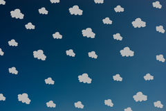 Hand drawn grey clouds pattern Stock Images