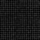 Hand drawn grid seamless vector pattern background. White raster square shapes on black backdrop. Geometric monochrome design for. Hand drawn grid seamless vector illustration