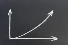 Hand drawn growth arrow Royalty Free Stock Image