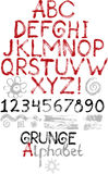 Hand drawn grunge alphabet Royalty Free Stock Photography