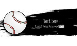 Hand drawn grunge banners with baseball ball. Hand drawn grunge banner with baseball ball. Black background with splashes of watercolor ink and blots. Vector Royalty Free Stock Photography