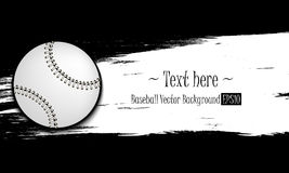 Hand drawn grunge banners with baseball ball. Hand drawn grunge banner with baseball ball. White background with splashes of watercolor ink and blots. Vector Stock Photography