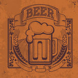 Hand drawn grunge  beer background Stock Photos
