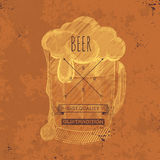 Hand drawn grunge  beer background Stock Images