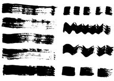 Hand drawn grunge brush strokes and backgrounds. Royalty Free Stock Images