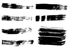 Hand drawn grunge brush strokes and backgrounds. Stock Image
