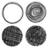 Hand Drawn Grunge Circles Stock Photography