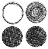 Hand drawn grunge circles Stock Photography