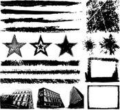 Hand drawn Grunge design elements Stock Image