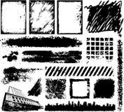 Hand drawn Grunge design elements Stock Photos