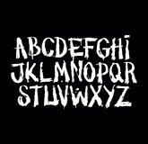 Hand drawn grunge font. Detailed vector alphabet Royalty Free Stock Images