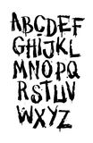 Hand drawn grunge font. Detailed vector alphabet Royalty Free Stock Photos
