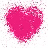 Hand Drawn Grunge Heart Royalty Free Stock Images