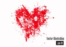 Hand drawn grunge heart Stock Images