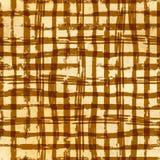 Hand drawn grunge ink grid on old paper, seamless pattern. Hand drawn grunge ink grid on yellow old paper, seamless pattern royalty free illustration
